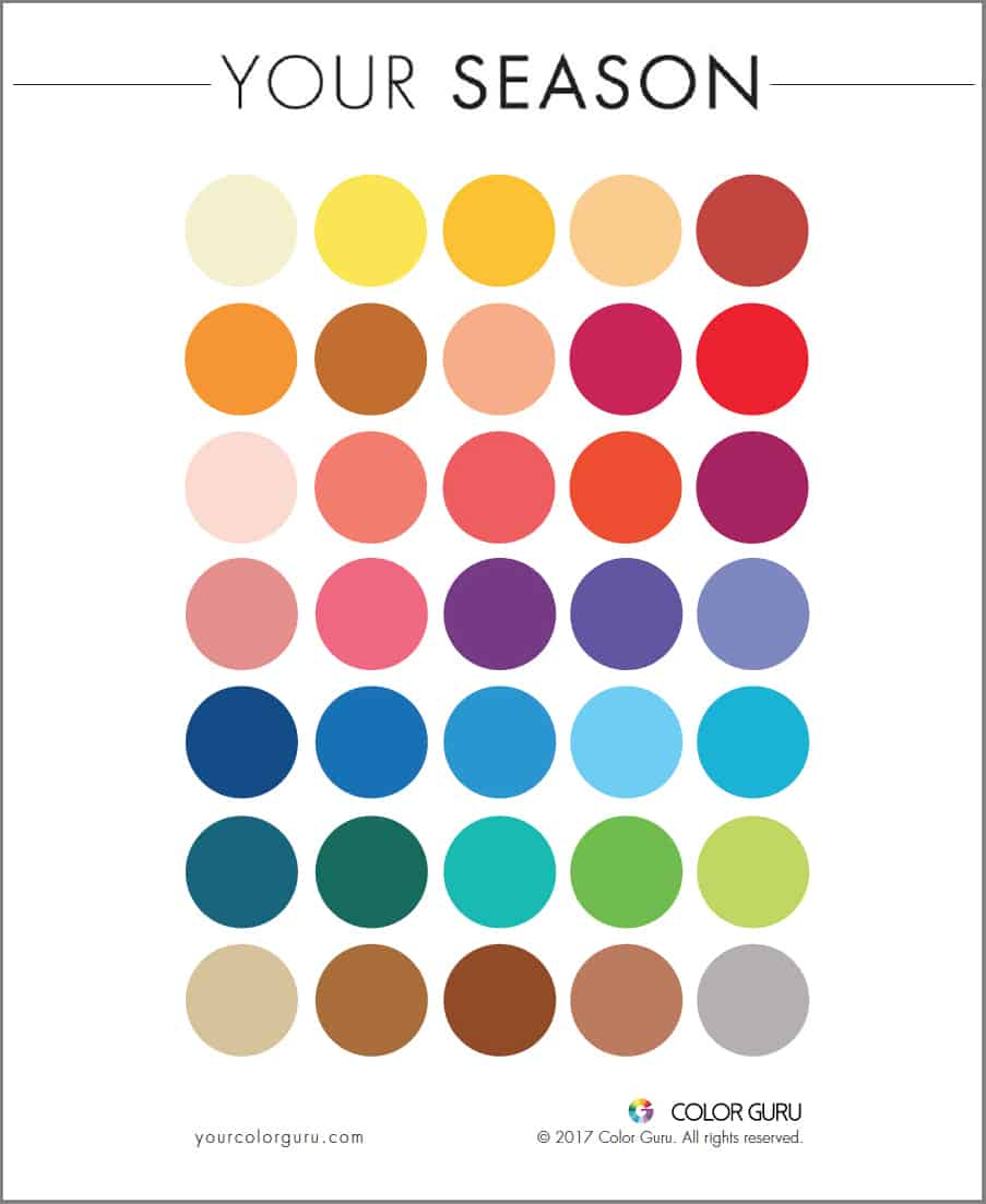 Color Guru Sample Color Card
